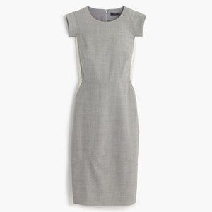 J. Crew Colorblock Gray sheath dress