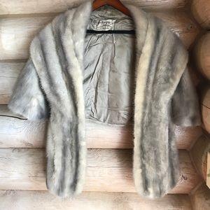 Vintage Gray Fur Shawl