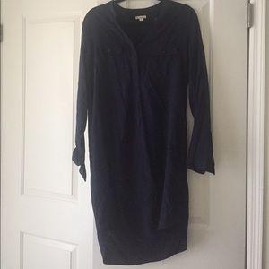 Long sleeve Gap Navy Shift Shirt dress size Medium
