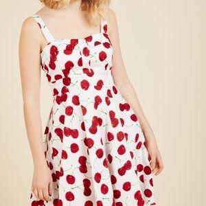 Pull Up a Cherry ModCloth Dress Medium M New