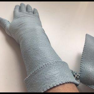 NWOT Key Zuebo design gloves lamb leather sz 6 1/2
