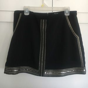 Madewell Embellished Mini Skirt- Size 10