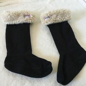 Hunter Fleece Faux Fur Boot Socks