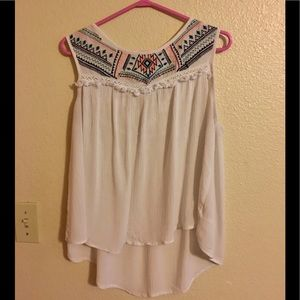 Cute Aztec and lace tank