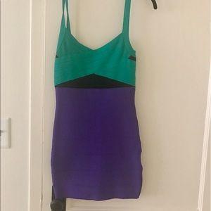 Bebe bodycon colorblock dress