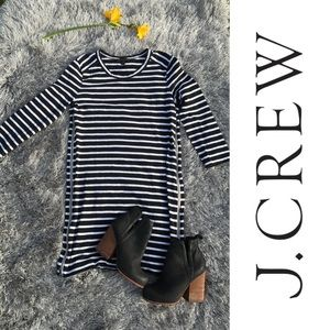J. Crew striped dress with zippers down side