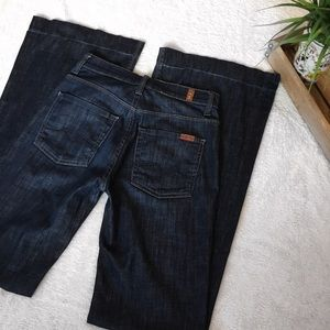 7 For All Mankind Ginger Dark Wash Wide Leg Jeans