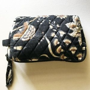 Vera Bradley Small Makeup Bag Black quilted
