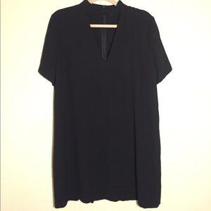 Zara Black V Neck Cut Out Shift Dress l