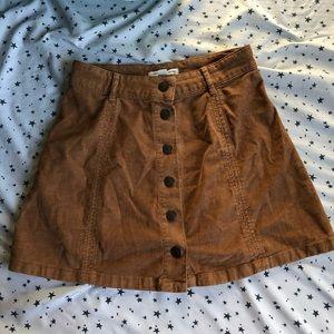 American Eagle Button Skater Skirt