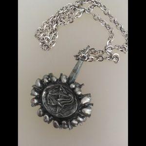 Lysgard Vintage Libra Pewter Necklace