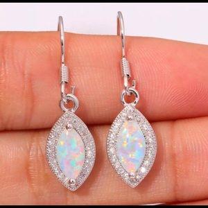 Fire Opal dangle earrings