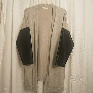 Zara Knit- Faux Sleeve Cardigan