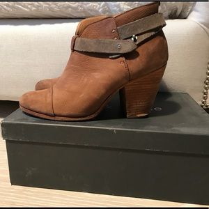 Rag & bone brown suede Harrow booties