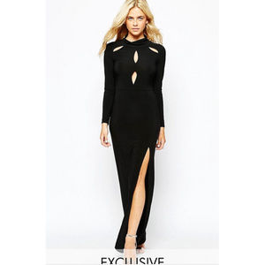 ASOS Halloween Witch Vampire Maxi Dress w Cutouts