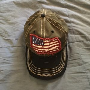 KBethos camo American flag hat