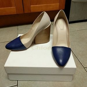 Chloe Pump Blue Surf/Pink Tea