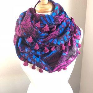 J. Crew mixed print infinity scarf