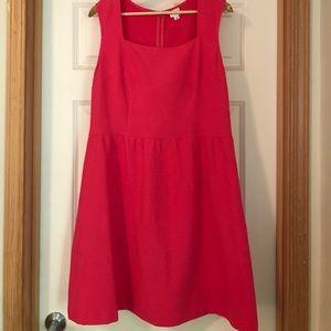 Square neckline bubblegum pink dress