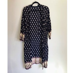 Zara Collection Dark Blue Kimono