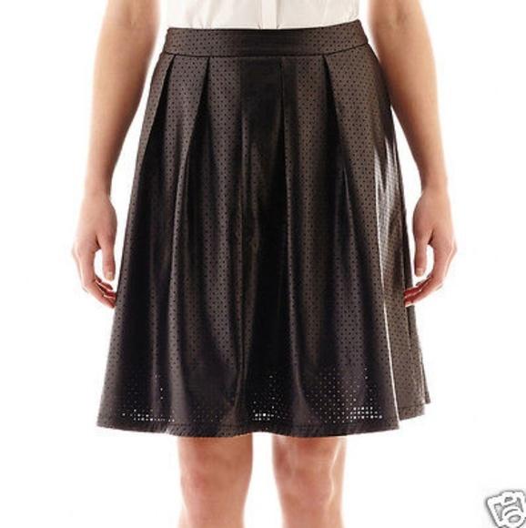Worthington Dresses & Skirts - Worthington Black Faux Leather Skirt