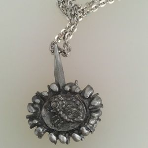 Vintage Pewter Lysgard Scorpio Necklace