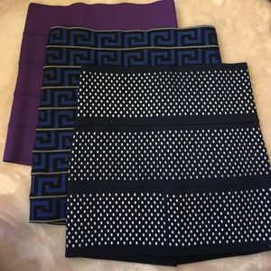 Pleasure Doing Business banded skirts