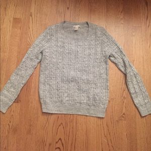 Grey H&M Cable Knit Sweater