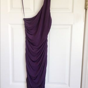 HM Small midi one shoulder ruffled dress stretchy