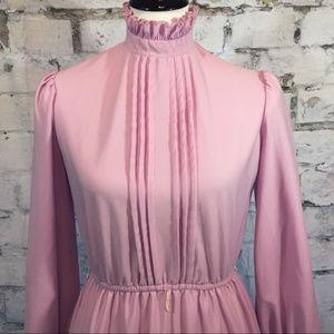 Vintage high collar dress