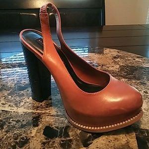 Steve Madden Cognac Block Heels! ❤