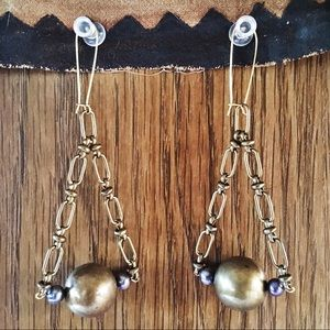 Jewelry - Handmade Brass Earrings