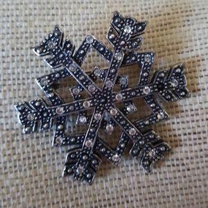 Vintage Anne Klein Snowflake Brooch