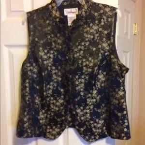 Worthington floral vest