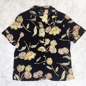 VTG Button Down Falling Floral Shirt