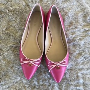 Coach Pink Radient Flats Size 10