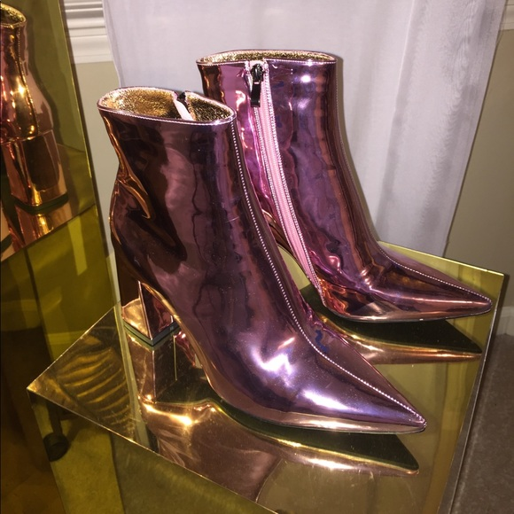 0440b698810 New Metallic Pink Ankle boots. M 59ed227fb4188eabfc0a4e91
