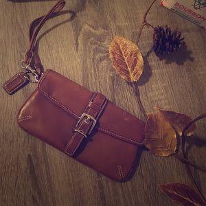 Coach | Genuine Leather | Brown | Wristlet |
