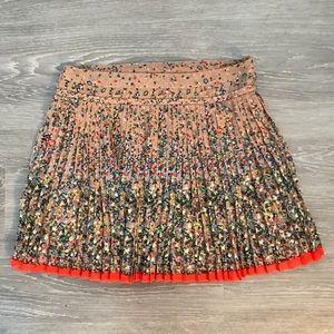 AE Floral Pleated Skirt