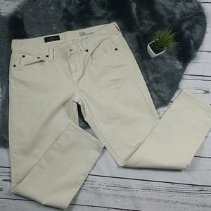 J.Crew Cream Toothpick Ankle Denim Jeans