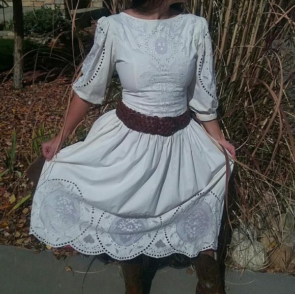 Carolyne Barton Dresses | Vintage Gunny Sack Wedding Dress | Poshmark