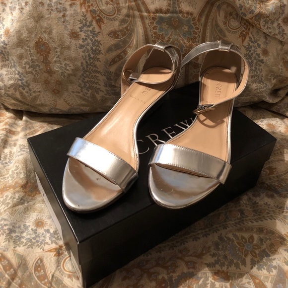 21fa227e1087 J. Crew Shoes - J.Crew Lillian Metallic Wedges