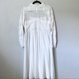 ASOS cream lace dress