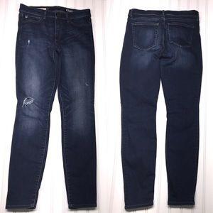 GAP Distressed Resolution True Skinny Jeans Sz 28