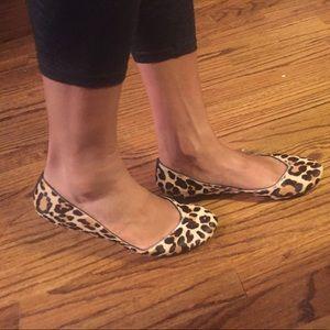 Cole haan leopard print hair calf ballet flats