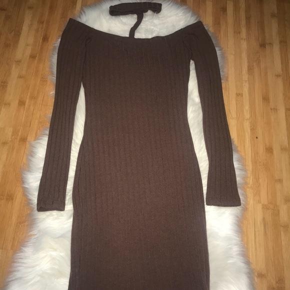 07eaa5849b Fashion Nova Dresses   Skirts - Chocolate Brown Long Sleeve Bodycon Dress