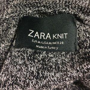 NWOT Zara knit gray hi-lo turtleneck sweater-M