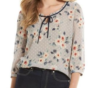 Women's LC Lauren Conrad Floral Clip-Dot Top