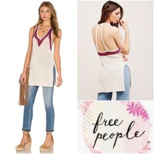 Free People Hold On Plunge Knit Tunic