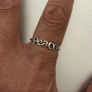 Jewelry - Sterling Silver Lower Case Font Peace Ring